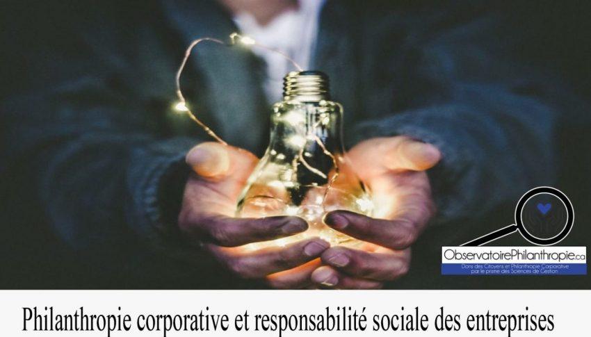 Philanthropie corporative et responsabilité sociale des entreprises